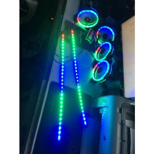 Combo 1 dây LED  + 3 Fan Coolmon + 1 Hup