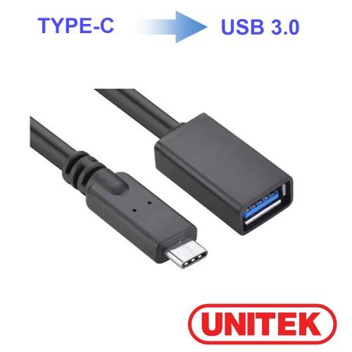 Cáp chuyển TypeC ra usb nối dài 3.0 Unitek (Y-C 476BK)