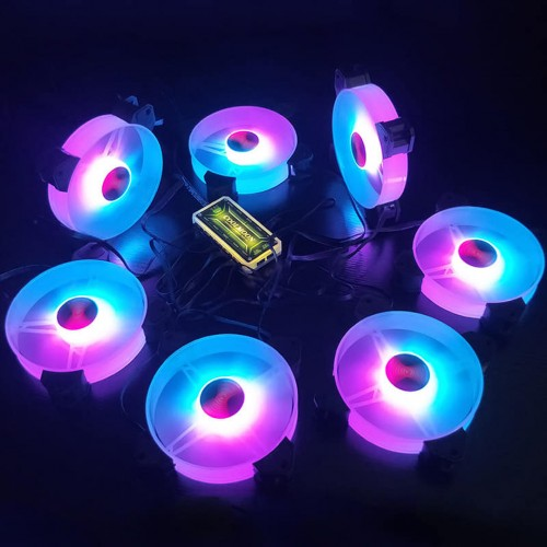 3 Fan Coolmoon Y1 + 1 hub + remote